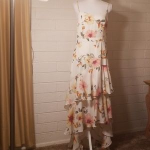NWT Nordstrom Leith floral high low maxi dress M